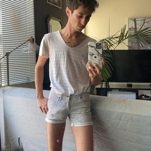 Short shorts with stars